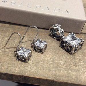 Silpada Uptown Earrings/ Pendant Set